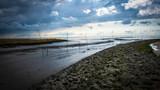 Priel im Wattenmeer an der Nordsee, Ebbe - 232555870
