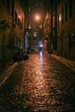 night alley after rain