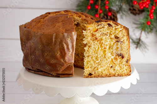 Wall mural Loaf of Panettone a Christmas Sweet Bread