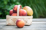peach and mango fruit basket