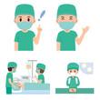 手術 麻酔 イラスト セット - 232580691