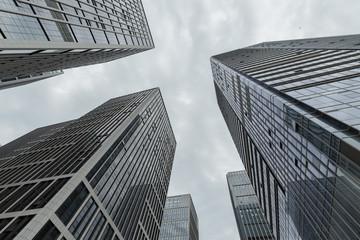 Urban high buildings, look up