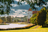 Mir, Belarus. Scenic View Of Castle Complex Mir In Sunny Day. Ol - 232600672