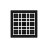 Black & white vector illustration of graph paper with grid lines. Flat icon of material for architect, drafter, engineering, mathematics. Technical & mechanical drawing supply. Isolated object - 232605664