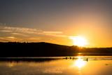 Ruderer bei Sonnenuntergang - 232609299