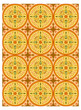 Arabic arabesque decorative texture Islamic ornamental colorful design background detail - 232611435