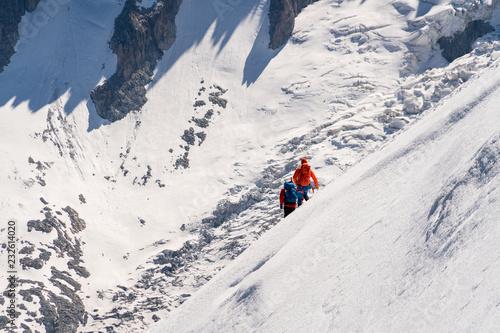 Foto Murales Alpinisme randonnée sur glace et neige Alpes Haute-savoie montagne