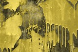 grunge yellow material with paint spots texture - cute abstract photo background - 232626897