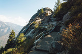 Moro Rock in Sequoia National Park, scenic hiking trail, California, USA - 232627261