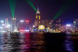 Hong Kong, China, light and sound show