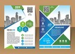 A modern business cover brochure layout with shape vector illustration - 232633259