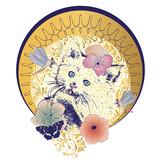 Kitten art nouveau frame
