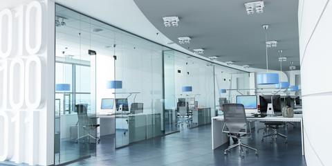Modern corporate office blue