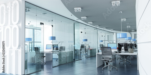 mata magnetyczna Modern corporate office blue