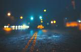 City street on rainy night © Kevin Carden