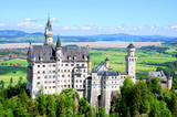 Famous tourist attraction in the Bavarian Alps - Neuschwanstein castle, Germany - 232667443