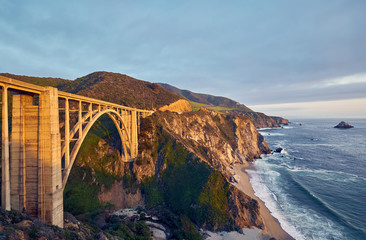 Bixby Creek Bridge on Highway 1, California © haveseen