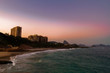 Quadro Sunset over Devil's Beach in Rio de Janeiro (Brazil) with Sugarloaf hill in the background