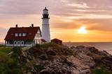 The Portland Head Light Under Beautiful Sunrise Skies, Portland,Maine, USA - 232689287
