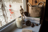 Details of interior in rustic style. Hygge home. - 232692643