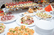 buffet table at the banquet. Festive food. Outgoing catering - 232696274