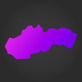 Slovakia gradient map