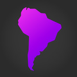 South America gradient map - 232696646