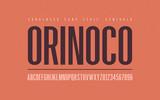 Orinoko condensed semibold san serif vector font, alphabet, typeface - 232700221