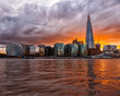 London City View at Sunset