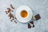Coffee espresso beans dark chocolate background - 232705007