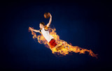 Basketball Player on Fire - 232724415