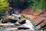 Bach im Herbstwald - 232731626