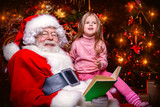 reading book with santa - 232735642