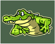 Funny Gator Cartoon Logo Mascot - 232746637