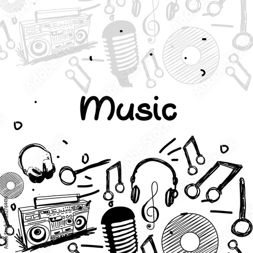 nice and beautiful abstract or poster for Music with nice and creative design illustration.