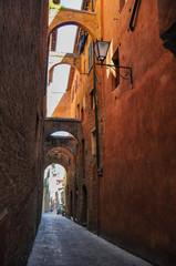Street in Italian Siena