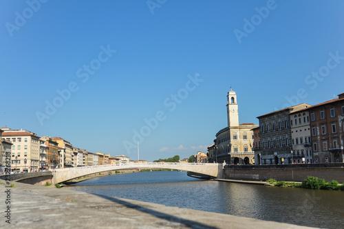 Arno river in Pisa (Italy)