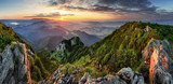 Landcape of mountain at sunset panorama from peak Velky Choc, Slovakia - 232773289