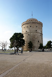 View of the area and the White Tower on the waterfront in Thessaloniki. - 232774467