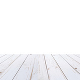 white wood table paint on isolate white background. - 232776071
