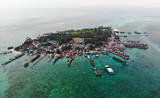 Panoramic aerial photo of Derawan island in East Kalimantan, Indonesia. - 232776806