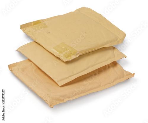 Brown stara koperta odizolowywająca na białym tle