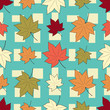 Seamless pattern with plant pattern from leaves. - 232786266