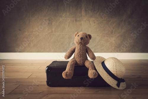 Foto Murales vintage travel bags