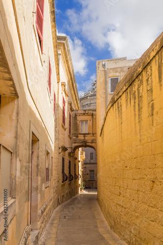Foto Murales Mdina, Malta. Beautiful old architecture