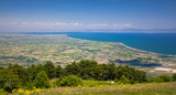 Panoramic view of Thermaikos Gulf of Aegean sea, Greece