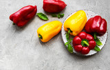 Bell peppers on a concrete background - 232793866