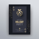 Vector illustration design for holiday party and happy new year party invitation flyer and greeting card template	 - 232794402