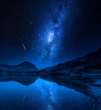 Milky way over milky way in District Lake, England - 232799803
