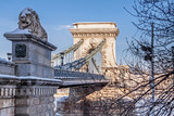 Lanchid or Chain bridge in Budapest at winter - 232808040